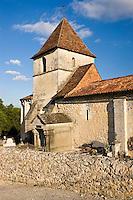 Ancient church at Boulouneix near Brantome, France