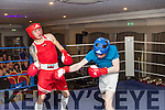 Bob Byrne, Tralee avoids a right hook from Charlie Collins, Kenmare when the pair met in the ring at a charity boxing night in the Ashe hotel, Tralee last Saturday in aid of Recovery Haven.