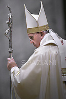 Pope Francis confers episcopal ordination at St Peter's basilica at the Vatican on November 15, 2013