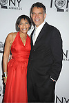 Brian Stokes Mitchell and wife attends th 66th Annual Tony Awards on June 10, 2012 at The Beacon Theatre in New York City.