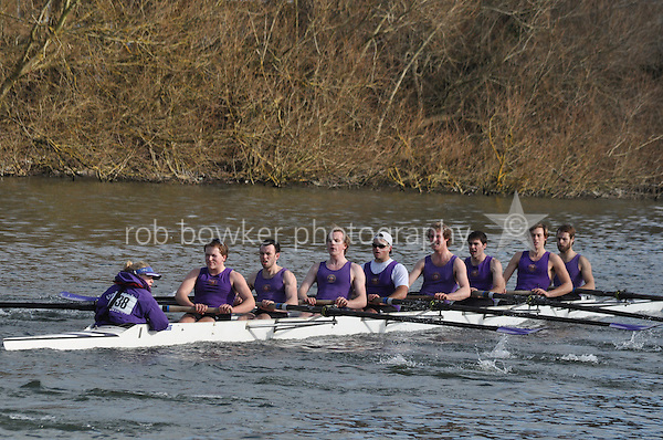 038 IM3.8+ Univ of London BC..Reading University Boat Club Head of the River 2012. Eights only. 4.6Km downstream on the Thames form Dreadnaught Reach and Pipers Island, Reading. Saturday 25 February 2012.