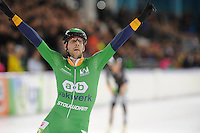 SCHAATSEN: HEERENVEEN: Marathonschaatsen, Gary Hekman wint, ©foto Martin de Jong