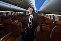 3/7/2012--Renton, WA, USA..R. Blake Emery, director of Differentiation Strategy at Boeing, inside a mockup of the interior of the new Boeing 787 Dreamliner...©2012 Stuart Isett. All rights reserved