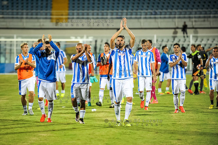 The players of Pescara at the end of the match of Italian Cup - TIM CUP - between Pescara vs Frosinone, on August 13, 2016. Photo: Adamo Di Loreto/BuenaVista*photo