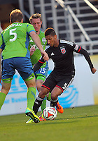 CHARLESTON, South Carolina - March 01 2014: D.C. United vs Seattle Sounders in the final match of the Carolina Challenge at Blackbaud Stadium, Charleston, South Carolina. The game ended in a 2-2 tie and with this result D.C. United won the tournament.