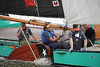 ZEILEN: SLEAT: Sleattemer Mar, 06-08-2014, IFKS Skûtsjesilen, Schipper Arend Wisse de Boer, Drie Gebroeders (Gorredijk), ©foto Martin de Jong