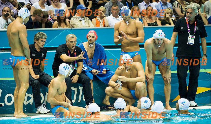 Team Italy.Italy Vs. Hungary ITA-HUN.Water Polo Men Quarterfinal.London 2012 Olympics - Olimpiadi Londra 2012.day 13 Aug.8.Photo G.Scala/Deepbluemedia.eu/Insidefoto