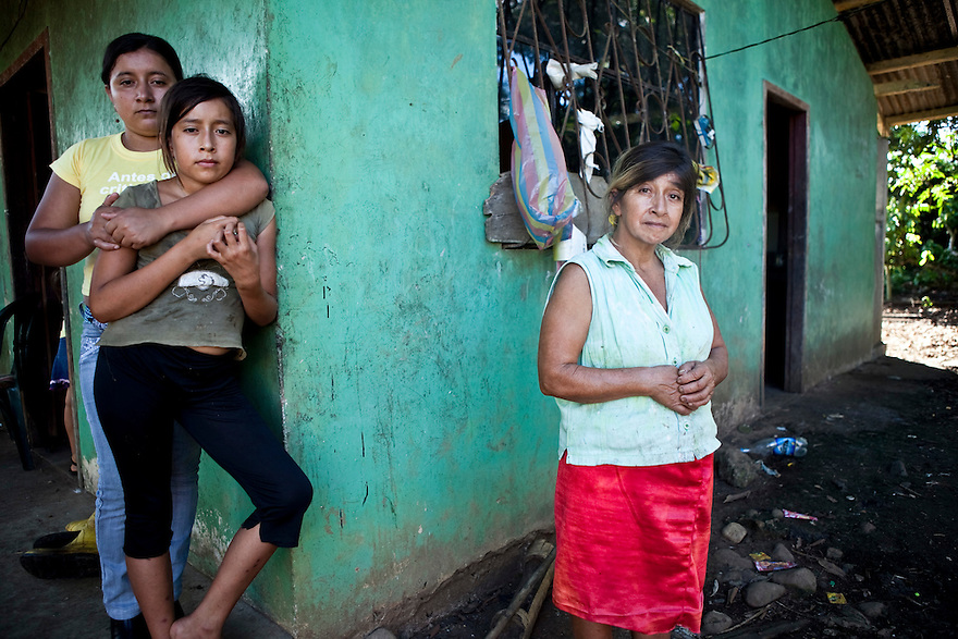 Marta Isabel Arrobo, 49, recalls the numerous health problems she and her family have encountered living in close proximity to several pits of the Sur-Oeste Station.
