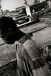 Two former combatants, hang around the graveyard..Monrovia, Liberia, January 1998