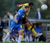 Fussball, 2. Bundesliga, Saison 2011/12, Testspiel SG Dynamo Dresden - Slovan Liberec, Pirna. Dresdens Cidimar (re.) gegen Liberec´s Milos Karisik.
