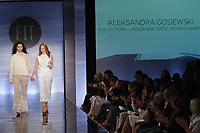 Graduating student Aleksandra Gosiewski, won the Victoria Lambourne Critic Award, during the Future of Fashion 2017 runway show at the Fashion Institute of Technology on May 8, 2017.