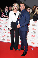 Ashley Slanina-Davies &amp; Duncan James at the National TV Awards 2017 held at the O2 Arena, Greenwich, London. <br /> 25th January  2017<br /> Picture: Steve Vas/Featureflash/SilverHub 0208 004 5359 sales@silverhubmedia.com