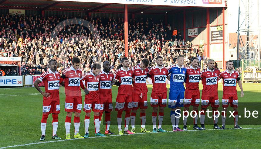 KV Kortrijk - RSC Anderlecht : 1 minuut stilte voor de wedstrijd<br /> Foto David Catry   VDB   Bart Vandenbroucke