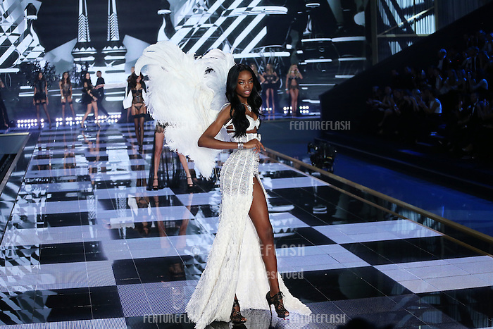 Maria Borges on the runway at the Victoria's Secret Fashion Show 2014 London held at Earl's Court, London. 02/12/2014 Picture by: James Smith / Featureflash
