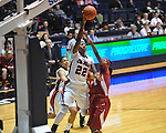 Ole Miss' Danielle McCray (22) vs. Alabama's Meghan Perkins (10) in NCAA women's basketball action in Oxford, Miss. on Sunday, January 13, 2013.  Alabama won 83-75.