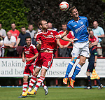 Aberdeen v St Johnstone...28.06.15  Glebe Park, Brechin..Pre-Season Friendly<br /> Steven MacLean and Mark Reynolds<br /> Picture by Graeme Hart.<br /> Copyright Perthshire Picture Agency<br /> Tel: 01738 623350  Mobile: 07990 594431