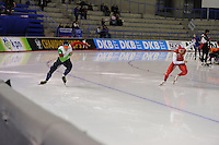 SPEEDSKATING: CALGARY: Olympic Oval, 25-02-2017, ISU World Sprint Championships, 500m Men, David Bosa (ITA), Artur Nogal (POL), ©photo Martin de Jong