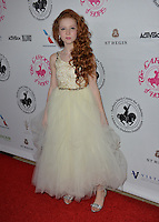 BEVERLY HILLS, CA. October 8, 2016: Francesca Capaldi at the 2016 Carousel of Hope Ball at the Beverly Hilton Hotel.<br /> Picture: Paul Smith/Featureflash/SilverHub 0208 004 5359/ 07711 972644 Editors@silverhubmedia.com