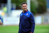 Bath Rugby Head Coach Tabai Matson looks on during the pre-match warm-up. Pre-season friendly match, between the Scarlets and Bath Rugby on August 20, 2016 at Eirias Park in Colwyn Bay, Wales. Photo by: Patrick Khachfe / Onside Images