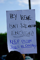 Mondelez-Nabisco is shutting down one of their Chicago factors and shipping the work - and the jobs - to Mexico. Workers and supporters protested against this decision outside a Mondelez-Nabisco shareholders meeting being held at a venue in Lincolnshire, Illinois.