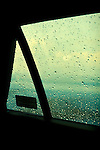 Car Side Window with raindrops