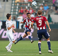 The CD Chivas USA and Chicago Fire played to a 1-1 tie during a MLS match at Home Depot Center stadium in Carson, California on July 2, 2011....