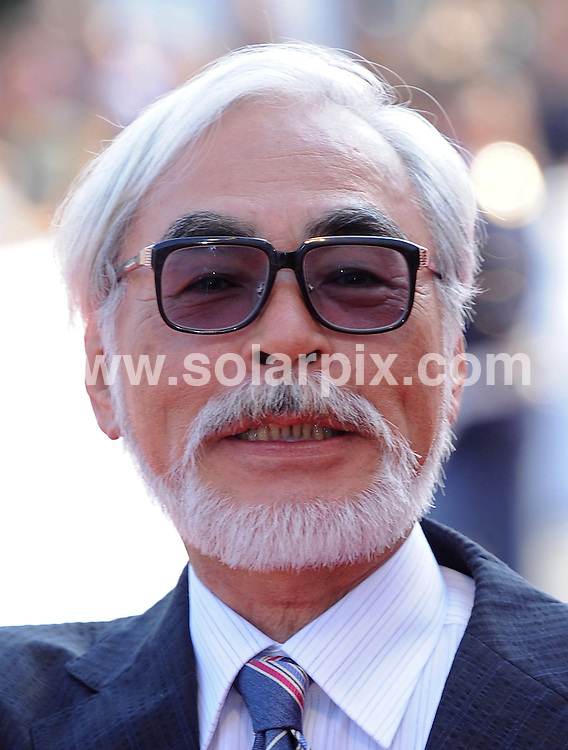 **ALL ROUND EXCLUSIVE PICTURES FROM SOLARPIX.COM**.**WORLDWIDE SYNDICATION RIGHTS**.Red carpet arrivals at the premiere of Gake No Ue No Ponyo.  Lido, Venice Italy.This pic.Hayao Miyazaki..JOB REF:       SSD     DATE:.**MUST CREDIT SOLARPIX.COM OR DOUBLE FEE WILL BE CHARGED* *UNDER NO CIRCUMSTANCES IS THIS IMAGE TO BE REPRODUCED FOR ANY ONLINE EDITION WITHOUT PRIOR PERMISSION*