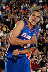 3 APR 2006: Joakim Noah (13) of the University of Florida pumps his fists in celebration after making a basket during the Division I Men's Final Four Championship Game held at the RCA Dome in Indianapolis, IN. The Florida Gators defeated the UCLA Bruins 73-57 for the championship titl. Rich Clarkson/NCAA Photos