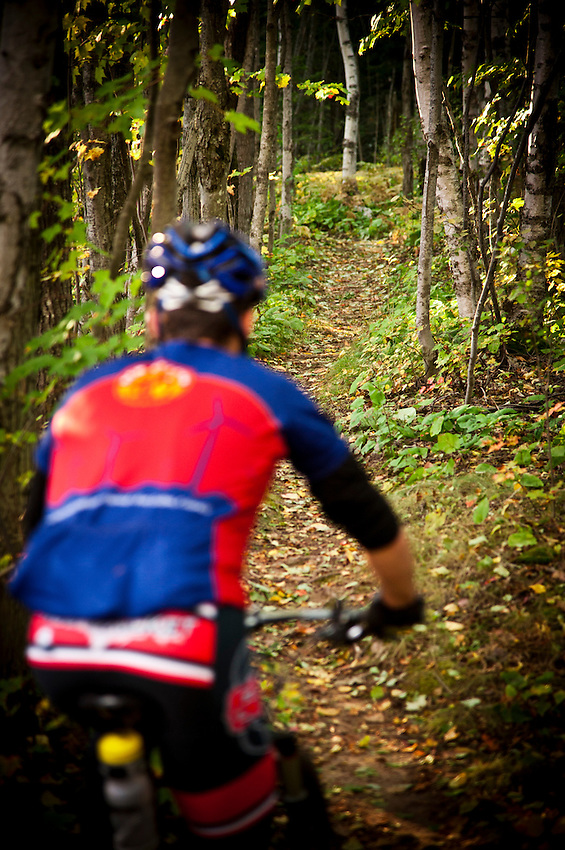 Mountain biking in Copper Harbor Michigan Michigan's Upper Peninsula.