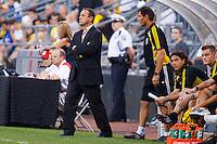 21 AUGUST 2010:  Columbus Head Coach Robert Warzycha during MLS soccer game between Colorado Rapids vs Columbus Crew at Crew Stadium in Columbus, Ohio on August 21, 2010.