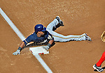 24 September 2012: Milwaukee Brewers infielder Jean Segura slides into third with a triple against the Washington Nationals at Nationals Park in Washington, DC. The Brewers fell 12-2 to the Nationals in the final game of their 4-game series, splitting the series at two. Mandatory Credit: Ed Wolfstein Photo