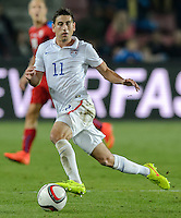 PRAGUE, Czech Republic - September 3, 2014: USA's Alejandro Bedoya during the international friendly match between the Czech Republic and the USA at Generali Arena.