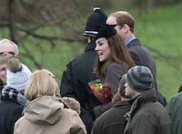 English Royals Attend Sunday Church Service, Sandringham - UK