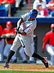 1 March 2011: New York Mets' utilityman Willie Harris in action during a Spring Training game against the Washington Nationals at Space Coast Stadium in Viera, Florida. The Nationals defeated the Mets 5-3 in Grapefruit League action. Mandatory Credit: Ed Wolfstein Photo