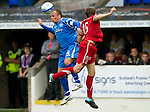 St Johnstone v Aberdeen...21.08.10  .Jody Morris and Peter Pawlett.Picture by Graeme Hart..Copyright Perthshire Picture Agency.Tel: 01738 623350  Mobile: 07990 594431