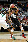 01 APRIL 2012:  Nnemkadi Ogwumike (30) of Stanford University looks for an open teammate against Baylor University during the Division I Women's Final Four semifinals at the Pepsi Center in Denver, CO.  Baylor defeated Stanford 59-47 to advance to the championship final.  Jamie Schwaberow/NCAA Photos