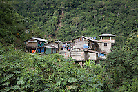 A village on a corner of the Interoceanic Highway in the Amazon.
