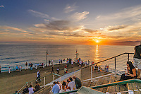 Santa Monica Pier, Sunset, Santa Monica, California