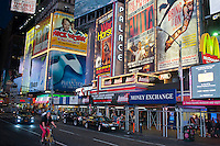 Advertising in Times Square in New York for Broadway plays and musicals is seen on Tuesday, September 11, 2012. ( © Richard B. Levine)