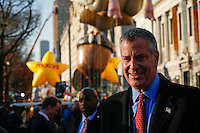 New York mayor Bill de Blasio attends the 89th Macy's Thanksgiving Annual Day Parade in the Manhattan borough of New York.  11/26/2015. Eduardo MunozAlvarez/VIEWpress