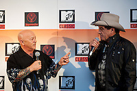 "Angry Anderson and Ian ""Molly"" Meldrum at the media call for the MTV Classic launch at Maze Restaurant, Crown Metropole, Melbourne, 27 April 2010"