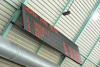 SCHAATSEN: HEERENVEEN: 26-10-2013, IJsstadion Thialf, NK afstanden, scorebord, uitslag 1500m heren, ©foto Martin de Jong