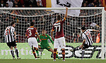 Calcio, Serie A: Roma vs Udinese. Roma, stadio Olimpico, 28 ottobre 2012..Udinese defender Maurizio Domizzi, right, scores during the Italian Serie A football match between AS Roma and Udinese, at Rome, Olympic stadium, 28 October 2012..UPDATE IMAGES PRESS/Riccardo De Luca