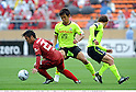Yasushi Endo (Antlers), Hiroyuki Taniguchi (Marinos), APRIL 25th, 2011 - Football : 2011 J.League Division 1 match between Kashima Antlers 0-3 Yokohama Marinos at National Stadium in Tokyo, Japan. The J.League resumed on Saturday 23rd April after a six week enforced break following the March 11th Tohoku Earthquake and Tsunami. All games kicked off in the daytime in order to save electricity and title favourites Kashima Antlers are still unable to use their home stadium which was damaged by the quake. Velgata Sendai, from Miyagi, which was hard hit by the tsunami came from behind for an emotional 2-1 victory away to Kawasaki. (Photo by Takamoto Tokuhara/AFLO).