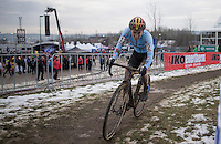 Sanne Cant (BEL) fighting back to teh front in the 1 but last lap<br /> <br /> Women's Race<br /> UCI 2017 Cyclocross World Championships<br /> <br /> january 2017, Bieles/Luxemburg