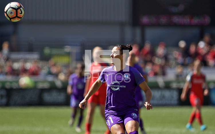 Portland, OR - Saturday April 15, 2017: Ali Krieger during a regular season National Women's Soccer League (NWSL) match between the Portland Thorns FC and the Orlando Pride at Providence Park.