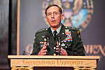 General David Petraeus, Commander, U.S. Central Command, delivers remarks in Gaston Hall.