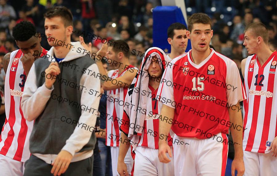 Kosarka Euroleague season 2015-2016<br /> Euroleague <br /> Crvena Zvezda v Fenebahce Istanbul<br /> Quinci Miller Nemanja Dangubic Gal Mekel Marko Tejic<br /> Beograd, 06.11.2015.<br /> foto: Srdjan Stevanovic/Starsportphoto &copy;