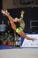 Victoria Filanovsky of Israel performs with ribbon at 2011 Holon Grand Prix, Israel on March 4, 2011.  (Photo by Tom Theobald)
