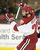 Luke Greiner (Harvard - 26) - The Harvard University Crimson defeated the visiting Bentley University Falcons 5-0 on Saturday, October 27, 2012, at Bright Hockey Center in Boston, Massachusetts.